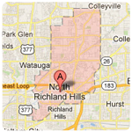 north richland hills texas roof repair service area